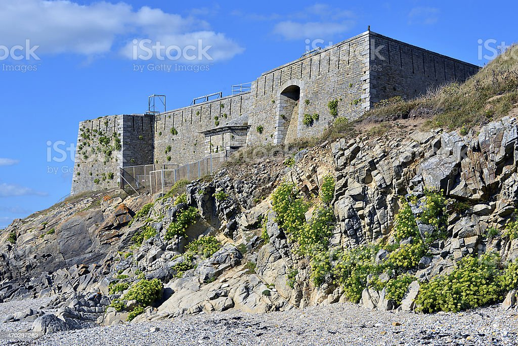 Fort of Penthièvre in France stock photo