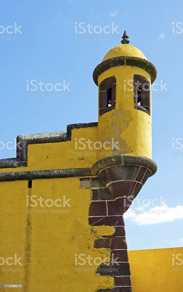 fort of Sao Tiago in Funchal (Madeira) royalty-free stock photo