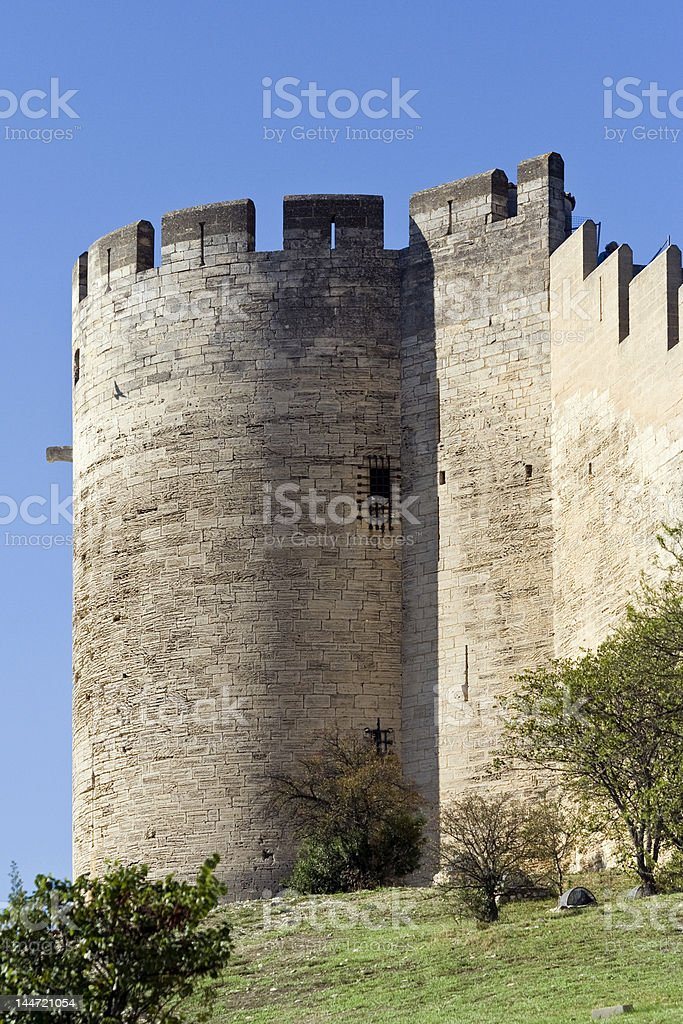Fort de Villeneuve les Avignons stock photo