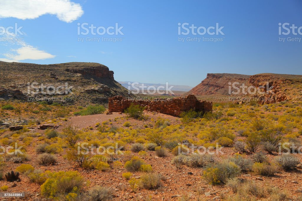 Fort Peirce Ruins near St George Utah stock photo