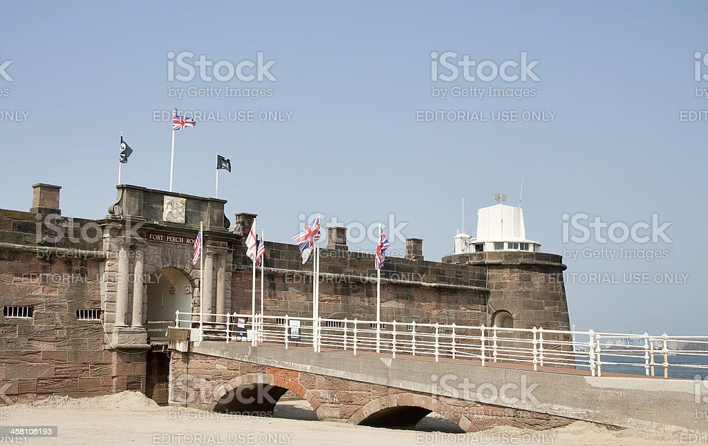 Fort Perch Rock. stock photo