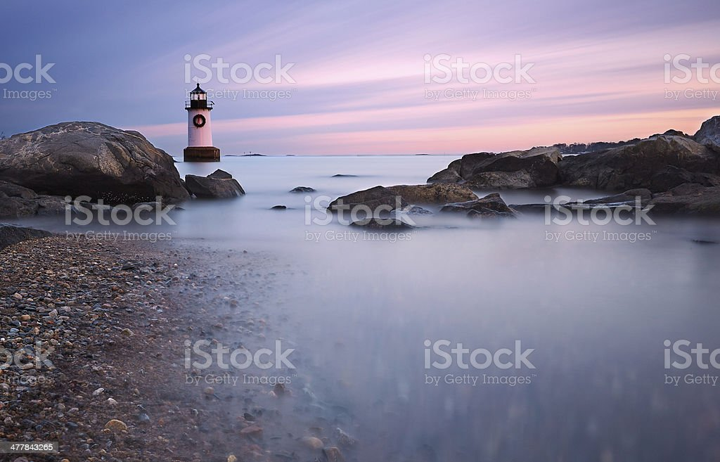 Fort Pickering Light, Salem Massachusetts stock photo