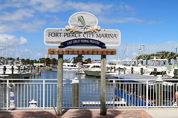 Fort Pierce City Marina stock photo