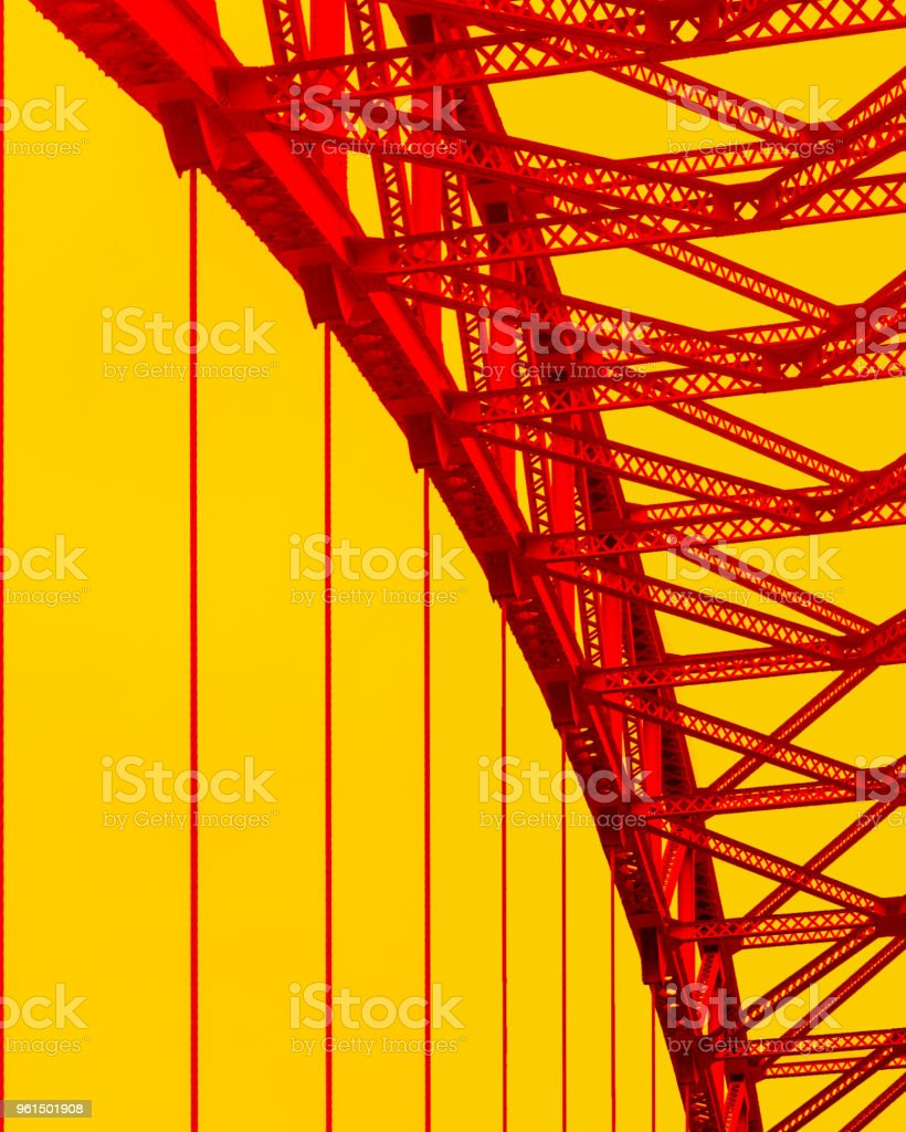 Fort Pitt Bridge: Pittsburgh, PA stock photo
