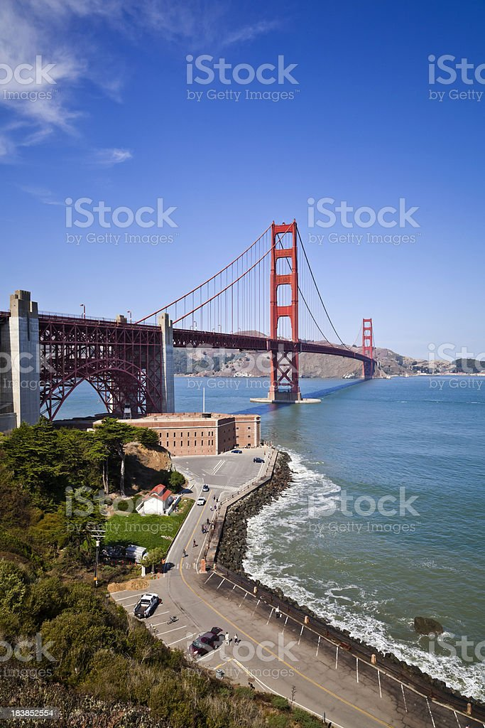 Fort Point and Golden Gate bridge royalty-free stock photo