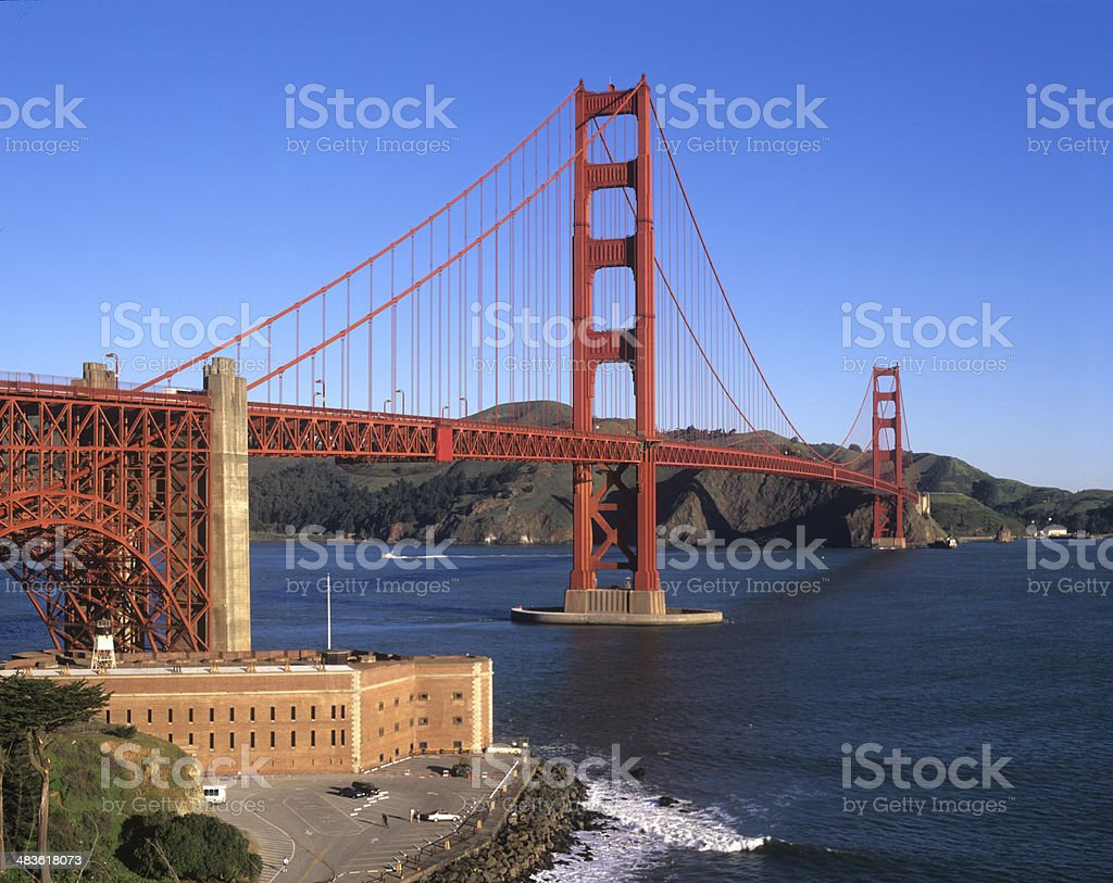 Fort Point and Golden Gate Bridge stock photo