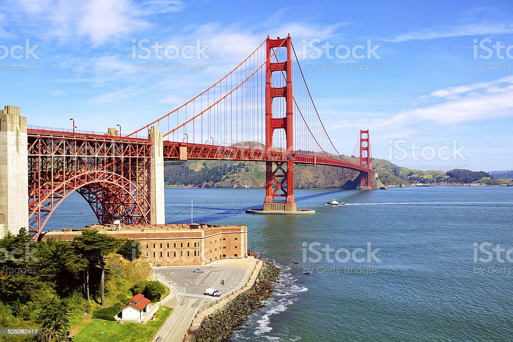Fort Point Historical Site stock photo