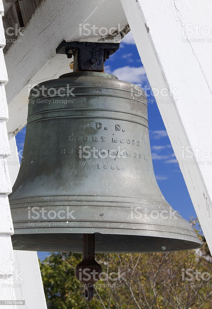Fort Point Lighthouse Bell, Penobscot Bay, near Belfast Maine royalty-free stock photo