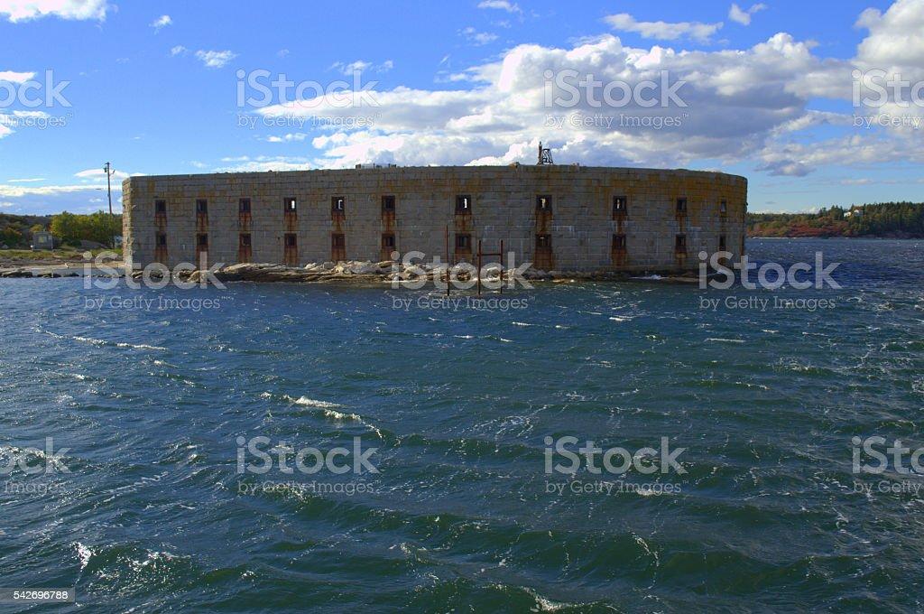 Fort Popham, Phippsburg, Maine USA stock photo