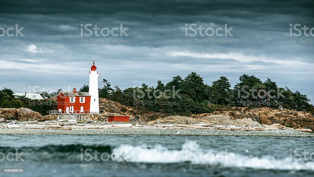 Fort Rodd Hill and Fisgard Lighthouse Victoria BC stock photo