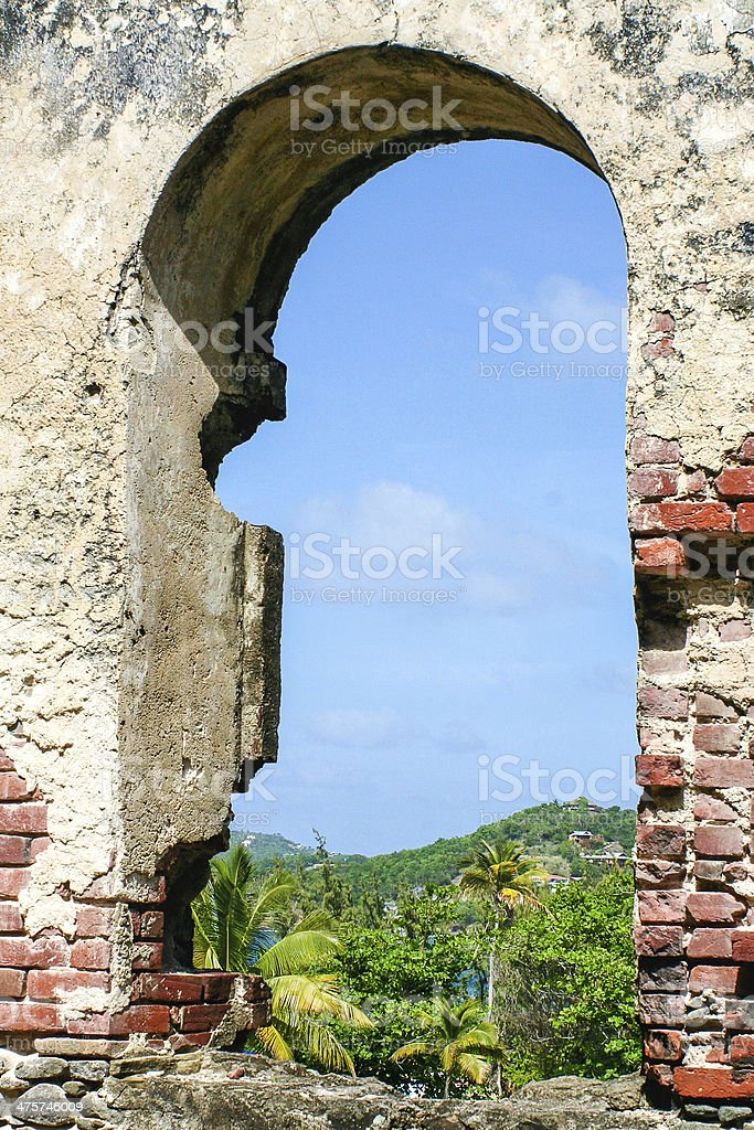 Fort Rodney, Pigeon Island National Park stock photo