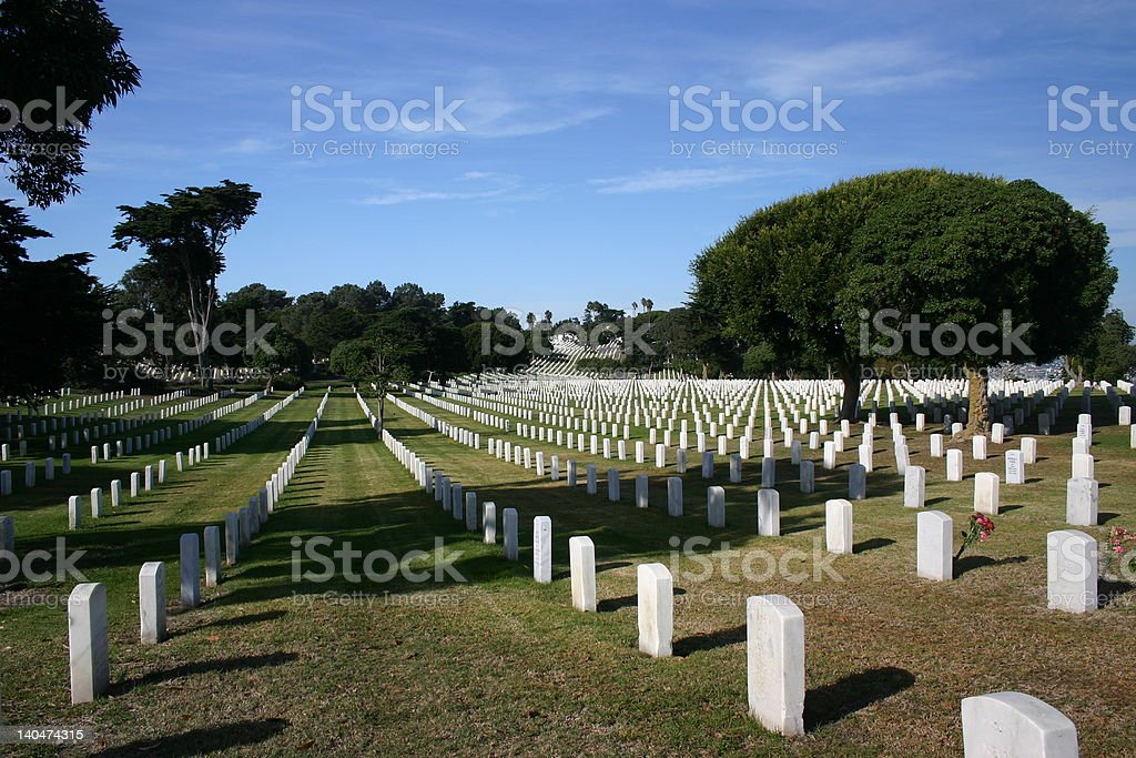 Fort Rosecrans National Cemetary royalty-free stock photo