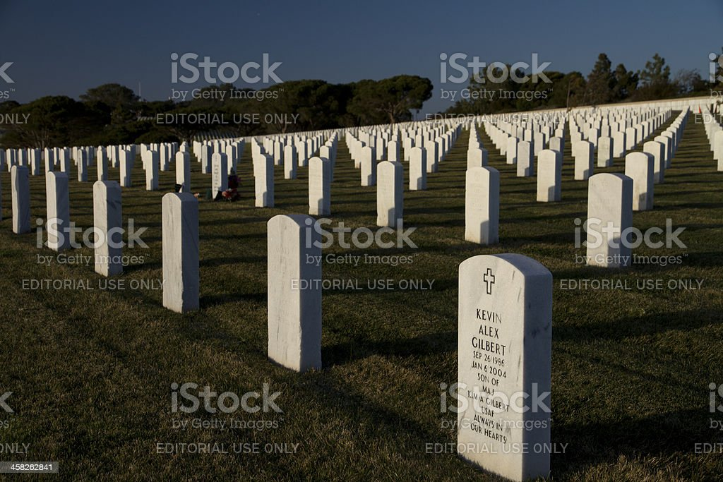 Fort Rosecrans National cemetery. royalty-free stock photo