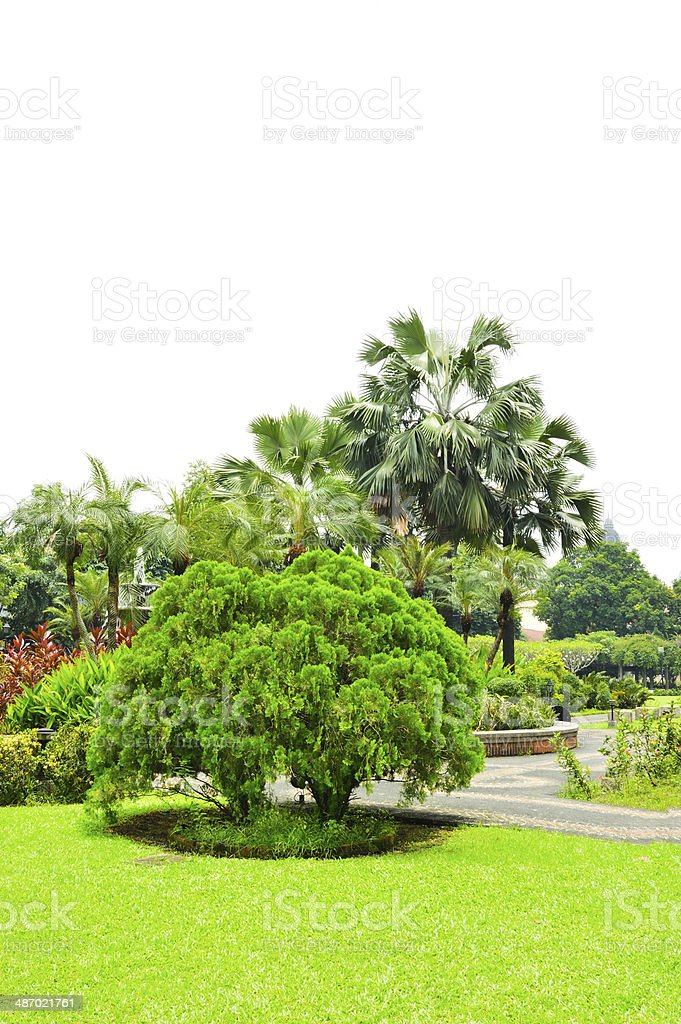 Fort Santiago park stock photo
