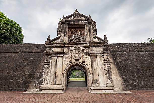 fort santiago - malakka staat stockfoto's en -beelden