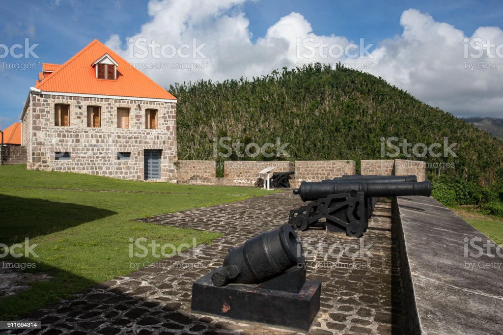 Fort Shirley in Cabrits National Park, Dominica stock photo