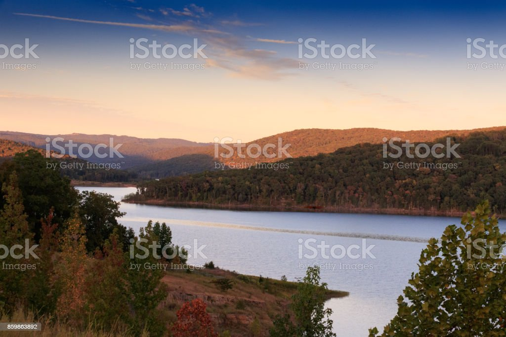 Fort Smith Lake stock photo