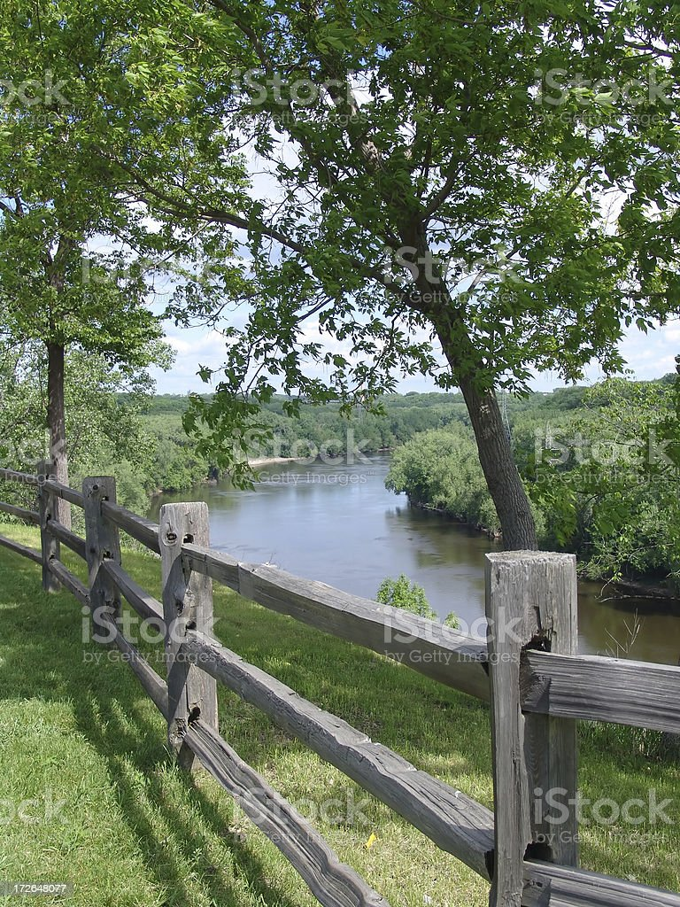 Fort Snelling Overlook royalty-free stock photo