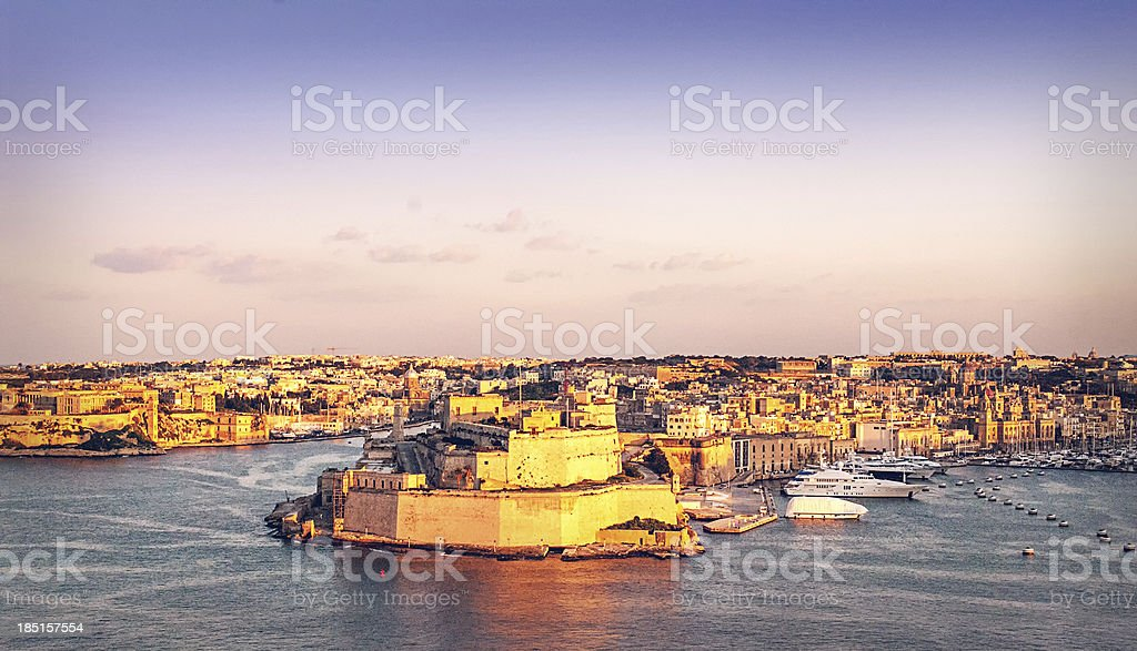 Fort St Angelo in Vittoriosa, Malta stock photo