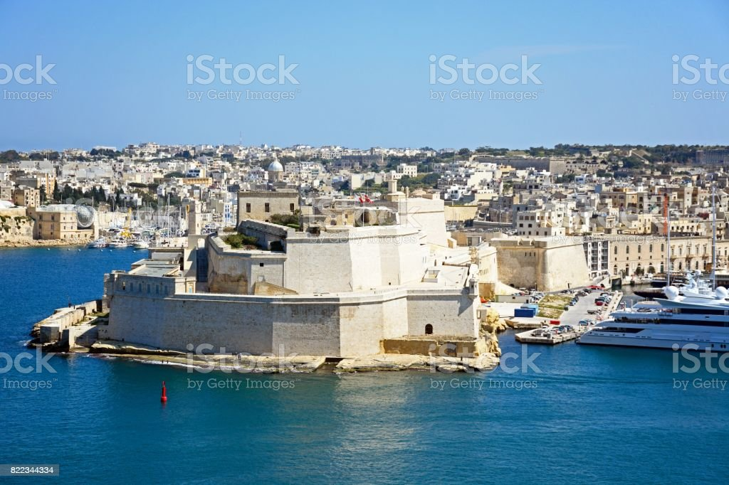 Fort St Angelo, Valletta, Malta. stock photo
