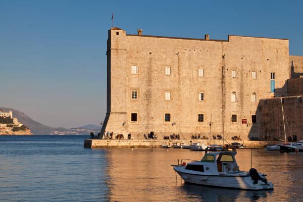 Fort St. Ivana in Dubrovnik stock photo