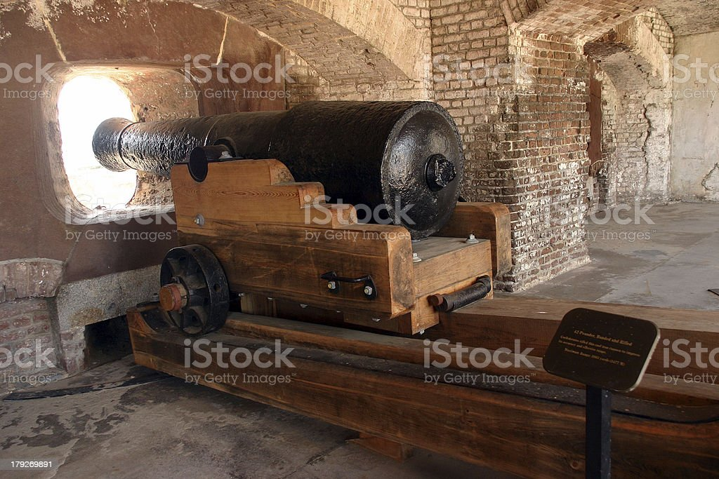 Fort Sumter cannon stock photo