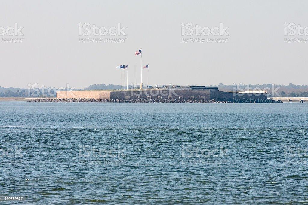 fort sumter in Charleston stock photo