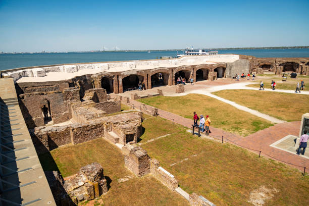 Fort Sumter National Monument in Charleston SC, USA stock photo