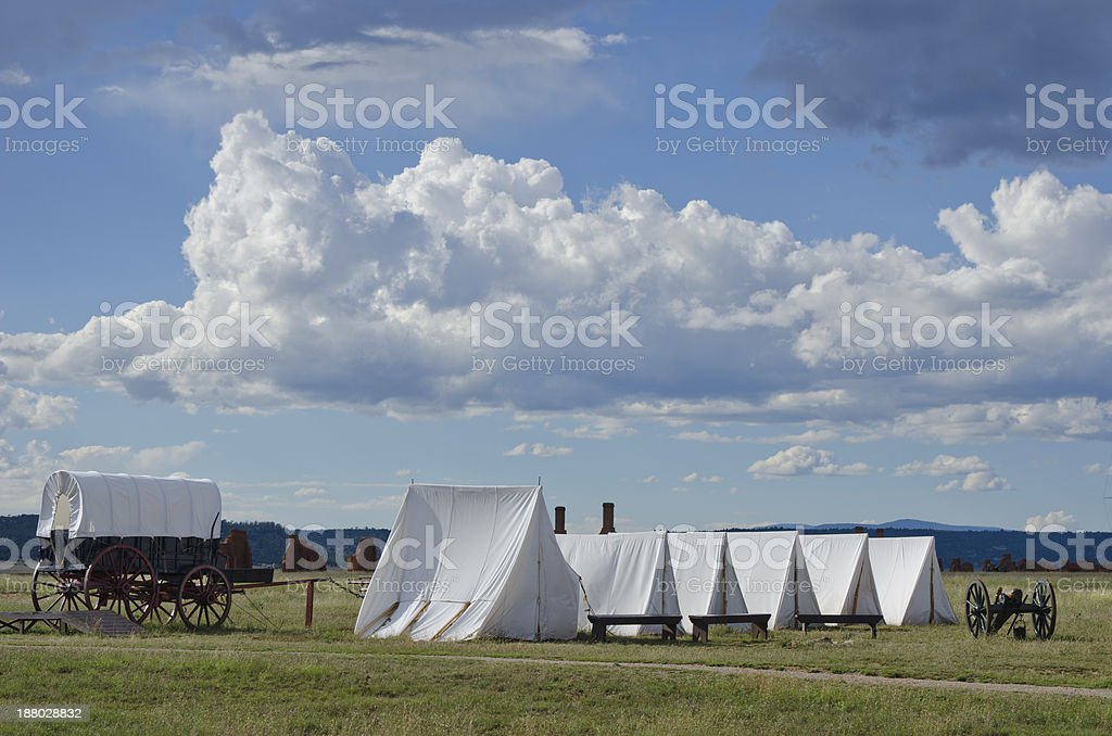 Fort Union Along the Santa Fe Trail stock photo