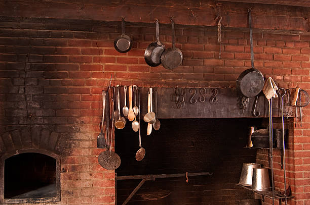Fort Vancouver Kitchen stock photo