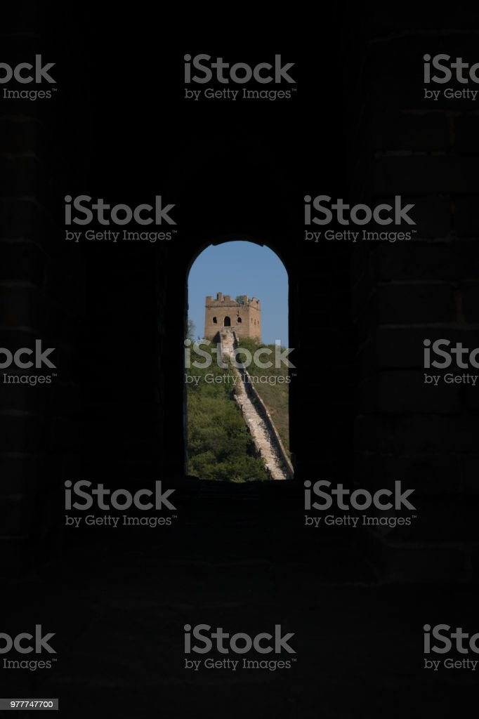 Fort viewed through archway stock photo