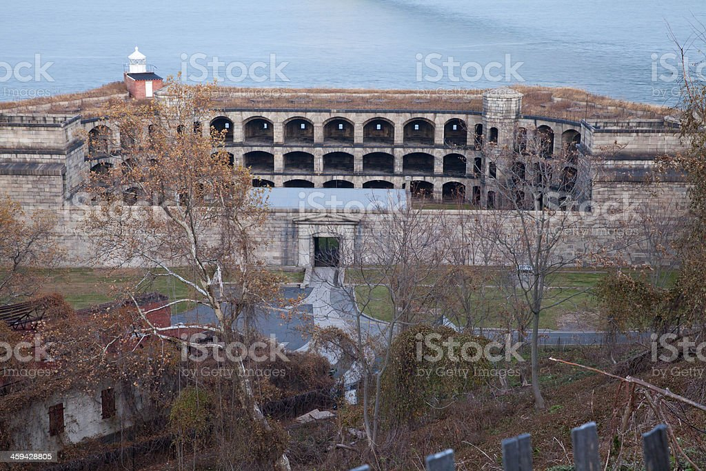 Fort Wadsworth in New York City stock photo