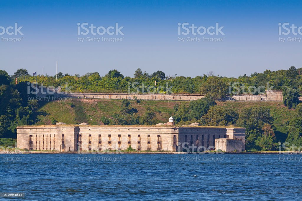 Fort Wadsworth in the morning, New York. stock photo