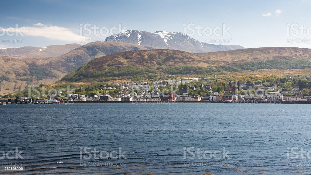 Fort William and Ben Nevis stock photo