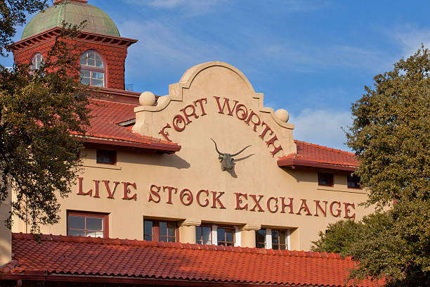 Fort Worth Live Stock Exchange building stock photo