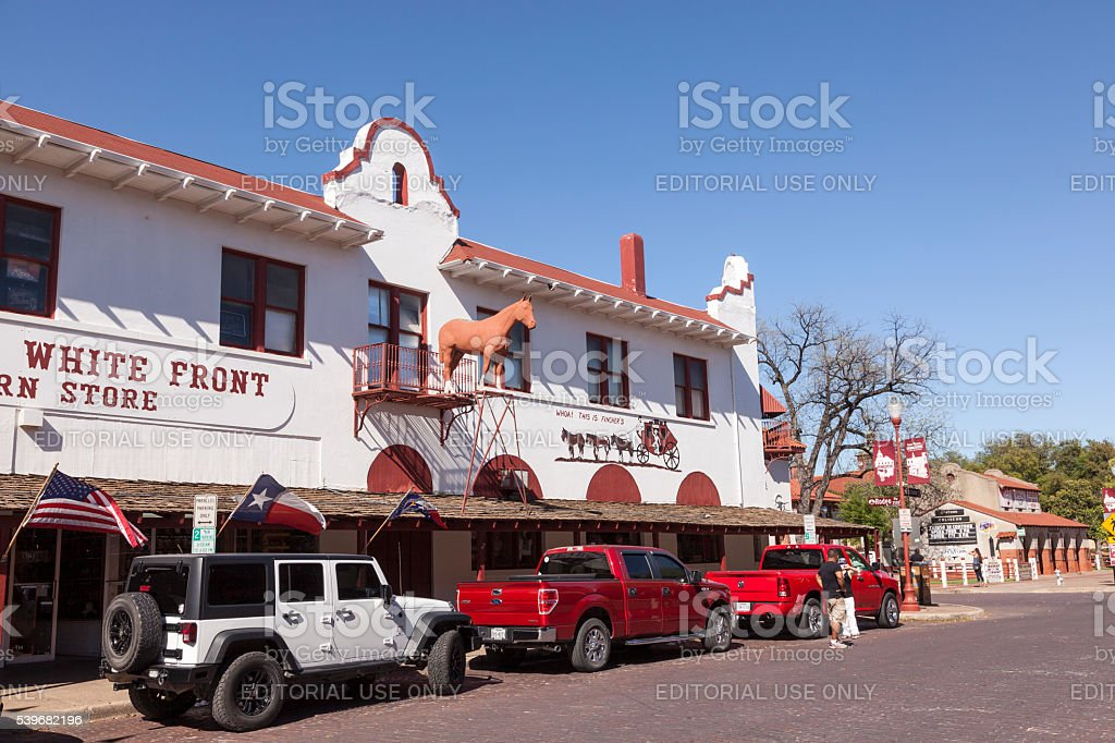 Fort Worth Stockyards Historic District stock photo