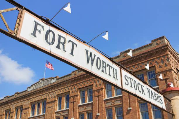 Fort Worth Stockyards Historic District - Texas stock photo