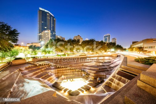 Fort Worth Water Gardens in Texas. United Sates.