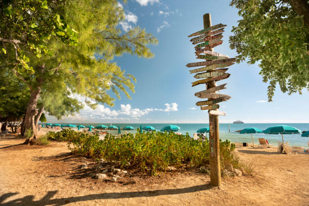 Fort Zachary Taylor State Park Beach Key West Florida stock photo