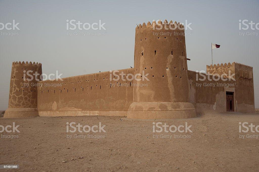 Fort Zubarah in Qatar royalty-free stock photo