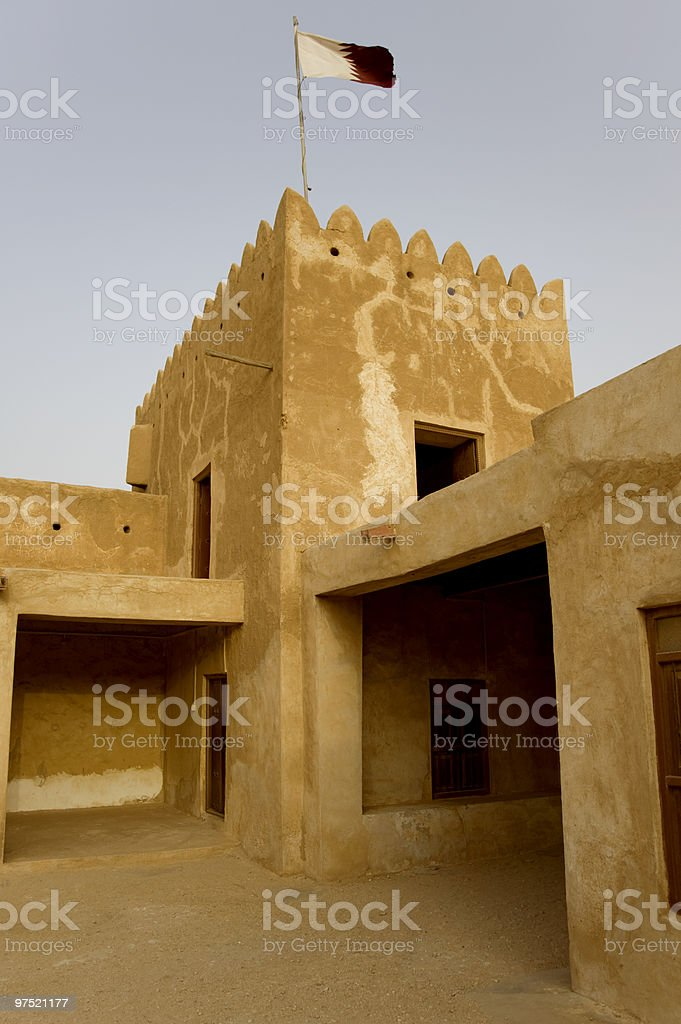Fort Zubarah in Qatar royalty-free stock photo