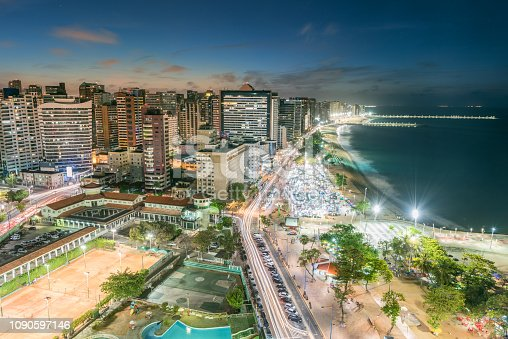 Fortaleza with Beach, Weekend Market at Sunset. Nikon D810. Converted from RAW.