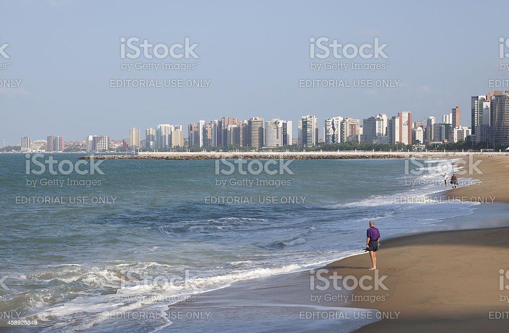 Fortaleza Cityscape, Brazil royalty-free stock photo