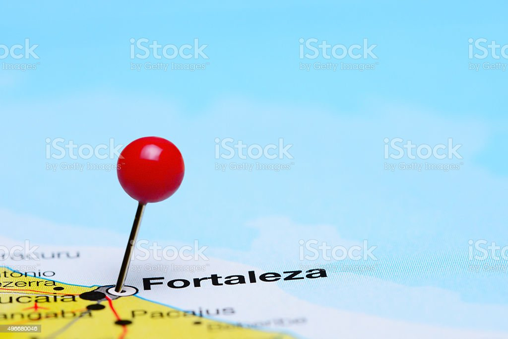 Fortaleza Pinned On A Map Of Brazil Stock Photo More Pictures of