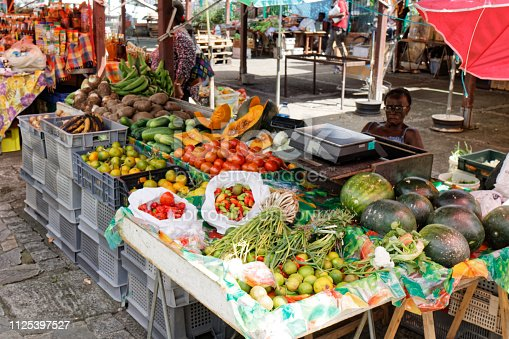 29 NOV 2018 -  Fort-de-France, Martinique FWI - Typical creole market