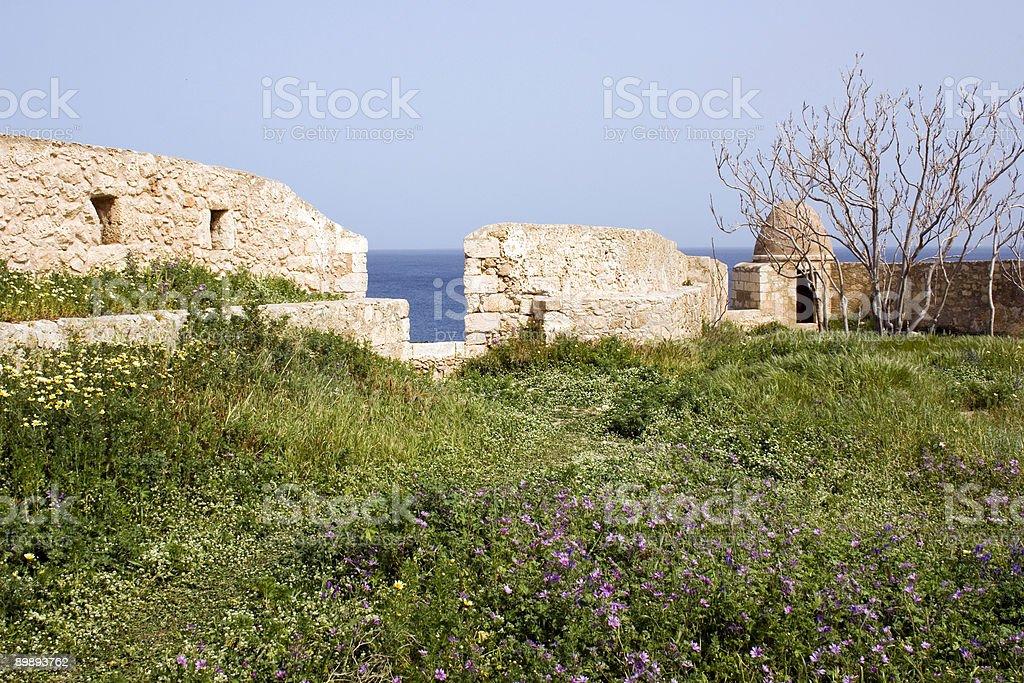 Fortezza Замок стены в Rethymnon-Крит Стоковые фото Стоковая фотография