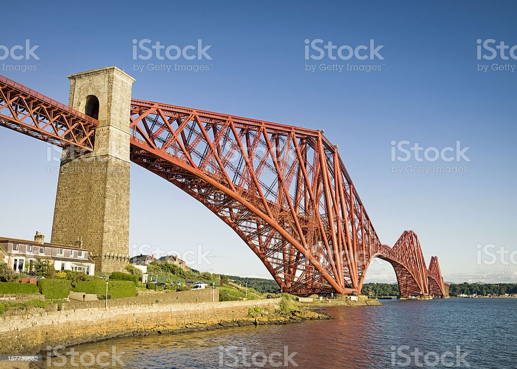 Forth Bridge from North Queensferry royalty-free stock photo
