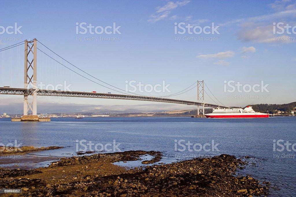 Forth Bridge stock photo