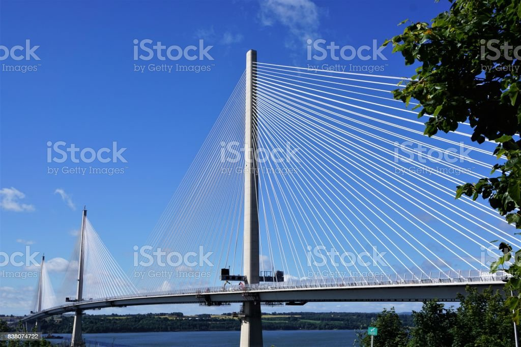 Forth Bridges from North Queensferry stock photo
