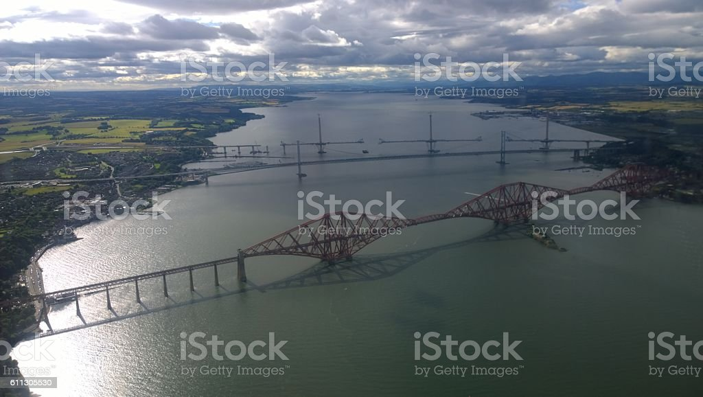Forth Bridges View stock photo
